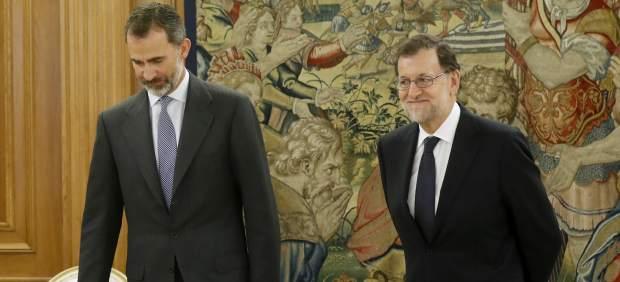 Rajoy, con Felipe VI