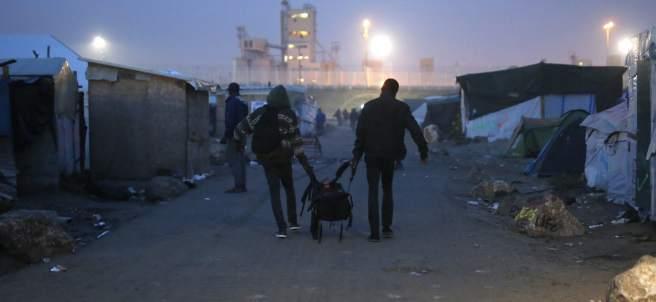 Evacuación del campamento de Calais