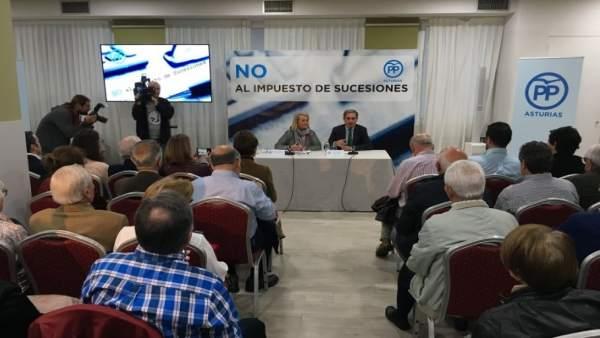 CONFERENCIA DEL PP SOBRE IMPUESTO SUCESIONES