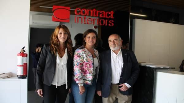 Charming Isabel Ambrosio Visita La Empresa U0027Contract Interiorsu0027