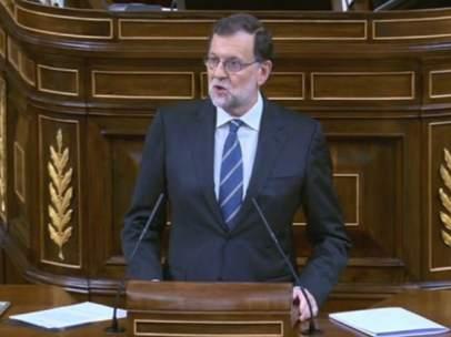 Rajoy, durante su discurso de este miércoles