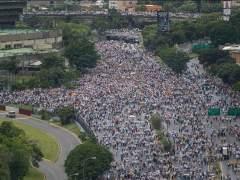 Un policía muerto en la marcha de la oposición venezolana
