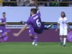 Espectacular gol de 'tijera' de Nacho que recordó al de Zidane en la 'Novena'