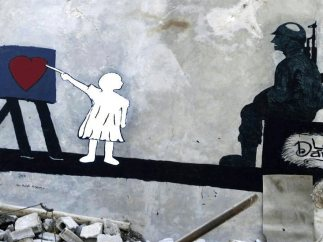 Su primer mural