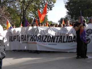 Así fue la protesta estudiantil contra las reválidas de la Lomce
