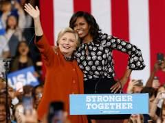 Primer acto de campaña de Michelle Obama junto a Clinton