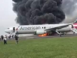Incendio de un avión