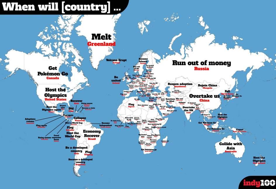 El mapa del mundo seg n lo que interesa a los internautas for Donde se encuentra el marmol