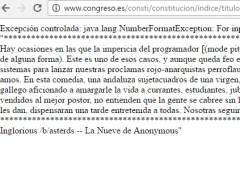 La web del Congreso, hackeada