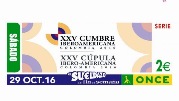 Cupón de la ONCE dedicado a la Cumbre Iberoamericana