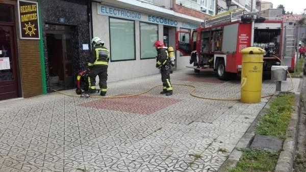 Casa del incendio en San Vicente de la Barquera