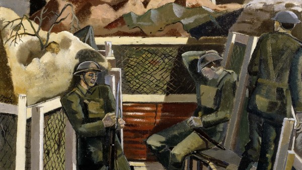 Paul Nash - Spring in the Trenches, Ridge Wood 1917