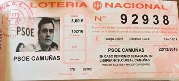 Lotería de Navidad del PSOE de Camuñas