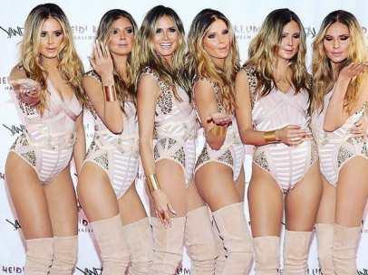 Heidi Klum y sus cinco clones