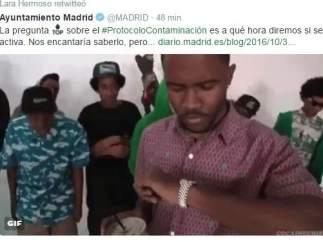 Tuit del Ayuntamiento de Madrid