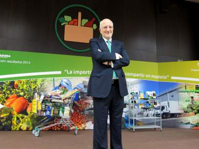 El presidente de Mercadona, Juan Roig, en la presentación de resultados de 2014.