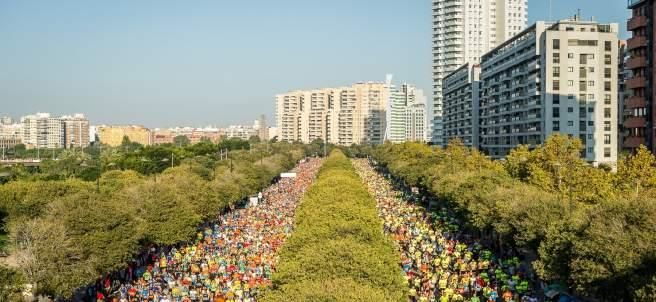 El Maratón de Valencia desde una imagen aérea