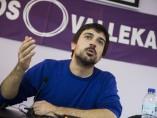 Ramón Espinar, durante un acto de su candidatura a las primarias de Podemos en Madrid