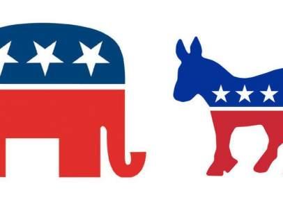 Logos del Partido Republicano y del Partido Demócrata