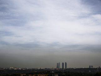 Nube de contaminación sobre Madrid