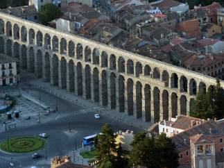 Vista del Acueducto de Segovia.
