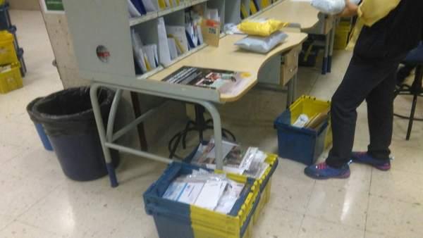 Imagen de una oficina de reparto de Correos