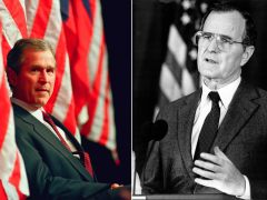 """Los expresidentes Bush piden rechazar el """"antisemitismo y el odio"""" en EE UU"""