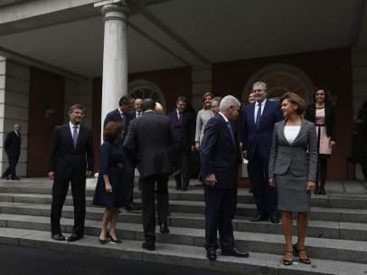 Los nuevos ministros con Rajoy