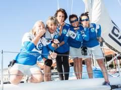 Llegan las cinco mujeres que han cruzado el Atlántico tras superar un cáncer