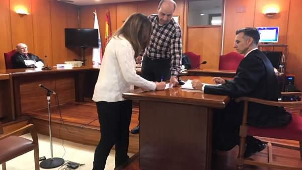 Espinosa firma la conformidad en la Audiencia