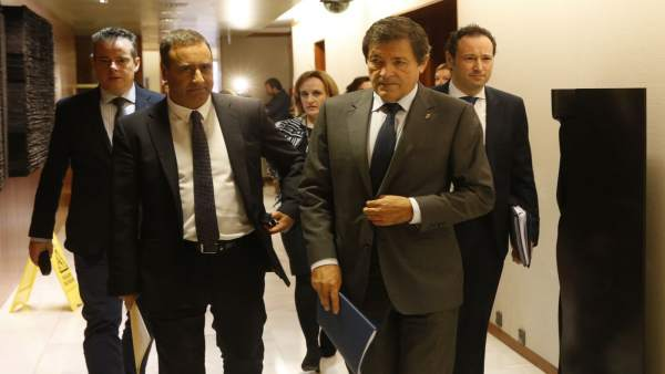 Javier Fernández, en el debate de orientación política.