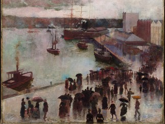 Charles Conder - Departure of the Orient – Circular Quay, 1888