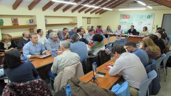 Reunión de la ejecutiva provincial del PSOE