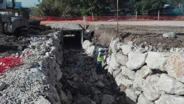 Obras en el arroyo de Lucena