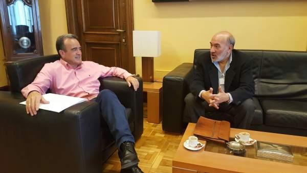 Sánchez Quero y Aranda, reunidos hoy en el despacho del presidente de la DPZ