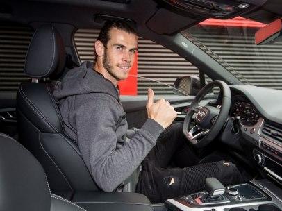 Gareth Bale con su nuevo Audi