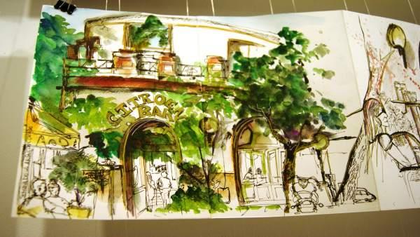 El colegio de arquitectos acoge dibujos de los aficionados - Colegio de arquitectos sevilla ...