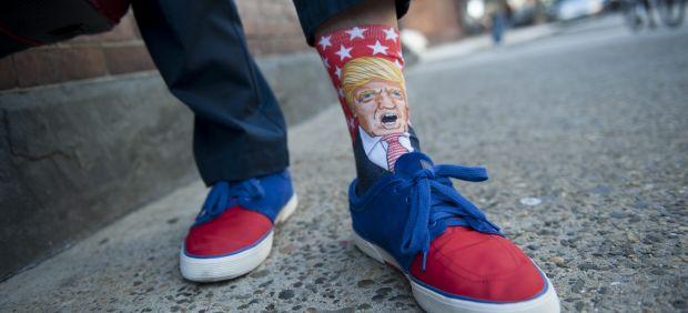 Con Trump en los calcetines