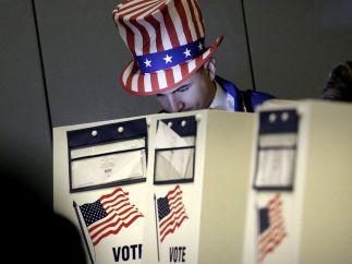 Tío Sam votando