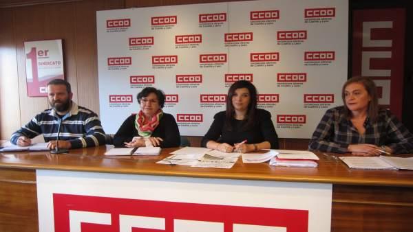 Jesús Moradillo, Genoveva Arranz, Nuria Benito y Elena Calderón