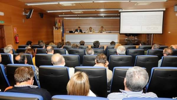 Reunión de diputación con alcaldes de Cáceres