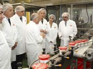 Inauguración de la nueva línea de producción de Gallina Blanca en Ballobar