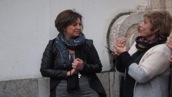 Isabel Ambrosio con Dulcenombre Rodríguez