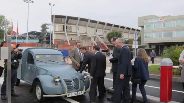 Inauguración de la nueva nave de PSA en Vigo.
