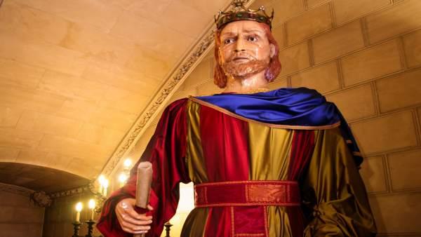 Rey Sancho, en el Consell de Mallorca