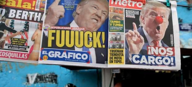 Trump en las portadas de México