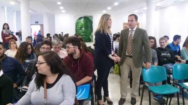 Morillo y De la Torre en la jornada de motivación para el emprendimiento.