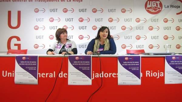 La vicesecrataria general de UGT, Cristina Antoñanzas, y la de Igualdad