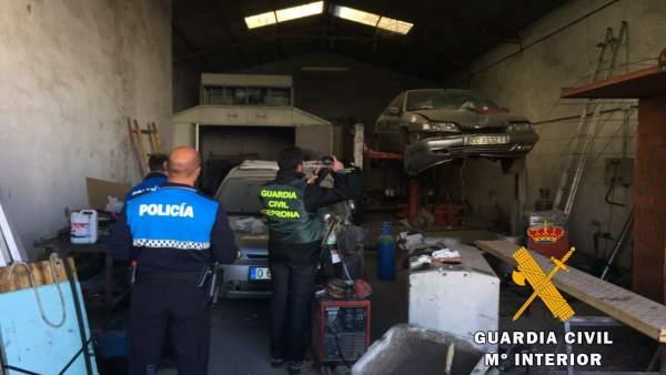 Taller ilegal en Ciudad Rodrigo (Salamanca).