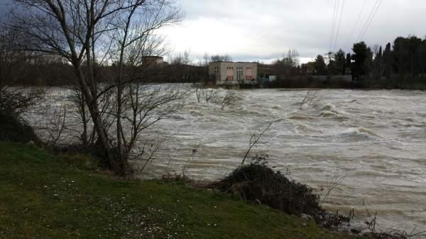 Imagen del río Ebro a su paso por Logroño
